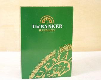 Wooden Cigar box The Banker Green Cigar Box