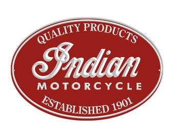 Reproduction Indian Motorcycle 1901 Series Metal Sign 9x14