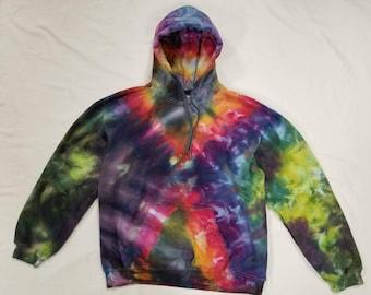 Funky Tie Dye Hoodie size Large