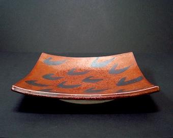 Porcelain platter, ceramic platter, serving platter, serving dish, handmade, serving plate, sushi platter