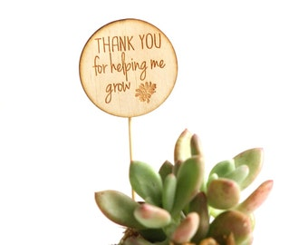 Teacher Plant Marker, Plant Spike 'Thank you for Helping me Grow'