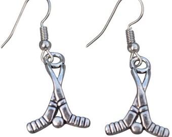 Infinity Hockey Stick Earrings