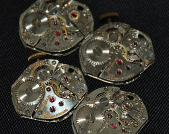 Vintage Watch Movements Parts Steampunk Altered Art Assemblage CD 43