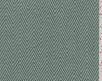 Jade Green Herringbone Knit, Fabric By The Yard
