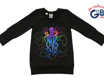 Sweater, Tunic, dress, 12/36 months, Octopus, multicolor