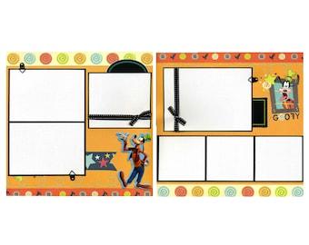 Goofy - Premade Scrapbook Page Set