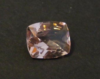 Morganite 2.35 Carat Cushion 8x10mm Natural Mozambique Peach Gemstone with Video