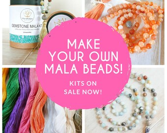 DIY Jewelry Kit - Make your Own Mala Necklace - Mala Beads/Tassel Necklace/Beaded Necklace/Mala/Mala Kit
