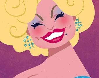Dolly Parton, 11x17 print