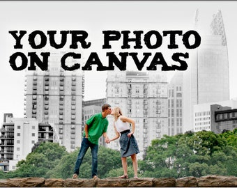 Panoramic Custom Canvas - Your Photo on Canvas - Photo to Canvas, Mothers Day, Wedding, Anniversary, Engagement, Birthday, Newborn