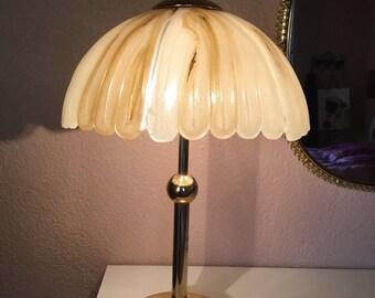 Table lamp brass mid century modern 1970s