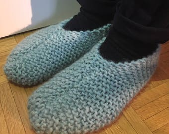 Thick wool slippers
