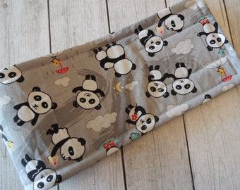 Dog Diaper Belly Band, Panda Fun Fabric, Stop Marking with WeeWrap, Personalized, Eco-Friendly