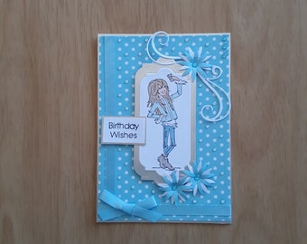 Birthday Card for a Girl, Handmade Birthday Card, Girl's Birthday Card,