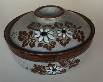 Vintage Ceramic Casserole Dish, Lidded Casserole Dish