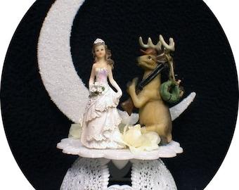 "Hunters "" marriage season"" Deer hunting  Wedding Cake topper OR Knife Server Glasses Guest Book Garter LOT  Country Western"
