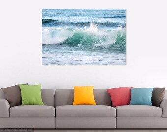 Ocean Photography, Ocean Wave Print, Beach Photo Print, Surf Wall Decor, Sea Green Ocean Wall Art, Blue Waves Print, Beach House Wall Decor