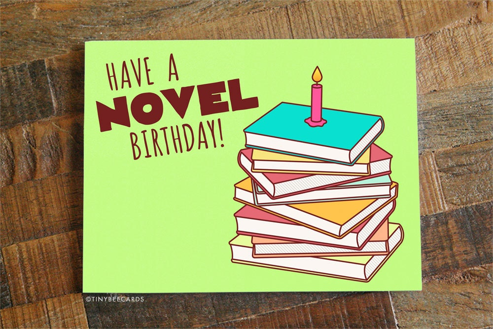 Book lover birthday card have a novel birthday zoom bookmarktalkfo Image collections