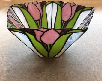 "Decorative Tulip Bowl 11-1/2"" x 7"""