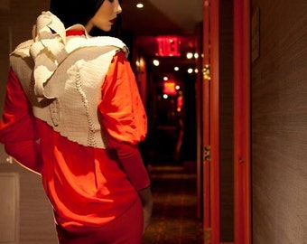 White caviar futuristic leather jacket from Avatar collection by ZulaStudio