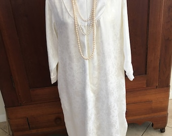 S / Christian Dior / Nightgown /  Cream / Vintage / Small