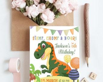 Dinosaur birthday invitation, dinosaur invitation, dinosaur party, dinosaur invite, birthday party, printable invitation, dino party