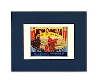 Royal Canadian Ginger Ale Mounted Label