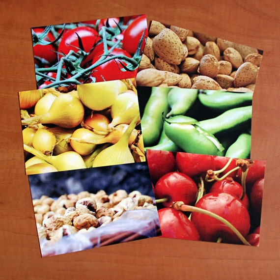 Set of 6 culinary postcards