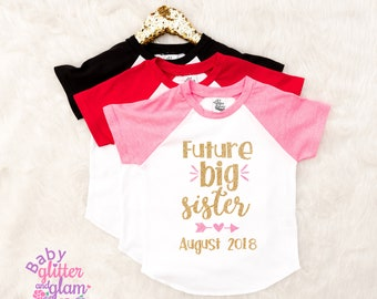 Future Big Sister Shirt, Pregnancy Announcement, Big Sister Announcement Shirt, Future Big Sister Announcement. Promoted to Big Sister