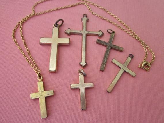 Destash vintage religious crosses pendants aloadofball Images