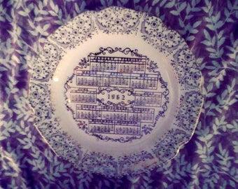 1962 Calander Plate ( Versitile)