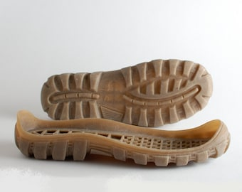Mens rubber soles Beige Tan for your own projects - Supply for shoes, snow boots - big sizes