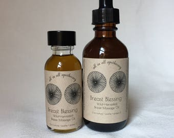 Breast Blessing // Wildcrafted Herbal Breast Massage Oil
