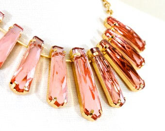 Statement necklace, Crystal necklace, Bridal necklace, Gemstone necklace - Batya