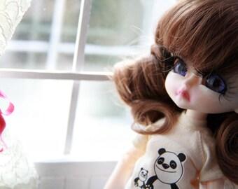 OOAK Custom n. 81 Hujoo apricot sleepy doll  by Silviacat -