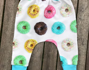 Donuts Slim Harem Pants, Trendy Baby Boy Girl Toddlers Clothes