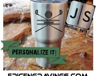 YETI or RTIC Engraved Tumbler/Golf/Golf Yeti/Golf RTIC/Golf Cup/Golf Tumbler/Peronalized Golf Cup/Golf Clubs/Golf Gift/Personalized Gift