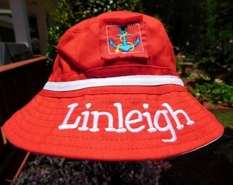 Monogrammed Nautical Cap  -  Infant Sun Hat