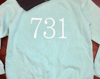 Area Code 731 Mint Sweatshirt
