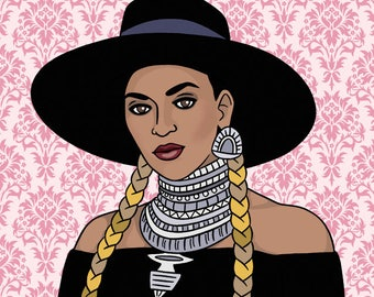 Bey Birthday Card, Greeting Card, Formation, Queen B, Hand Illustration (Item 1054)