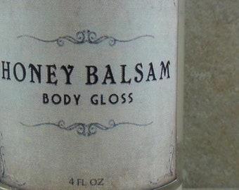 Honey Balsam - Body Gloss - Honey Citrus, Toffee, Frankincense, Myrrh