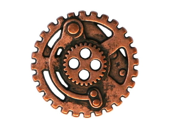 12 Steampunk Gears 7 8 Inch 22 Mm Metal 4 Hole Buttons