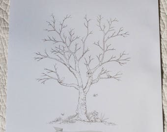 Guest book / tree prints for a wedding keepsake