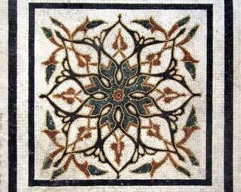 Arabesque Floral Mosaic Tile - Adela