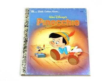 Walt Disney's Pinocchio Little Golden Book Vintage