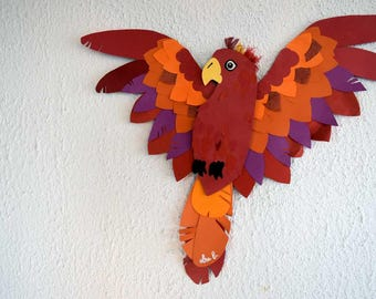 Wall decor, Scarlet Macaw