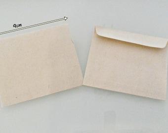 KRAFT Mini Envelopes 9cmX8cm Set of 12/24 Mini Cash Envelopes Coins Envelopes Mini Gift Card Envelopes 12pcs KRAFT 24pcs KRAFT Envelopes