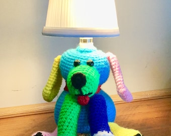 Crochet Puppy Nursery Lamp