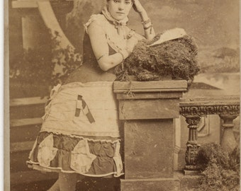 Theatrical Cabinet Card of Actress in Costume