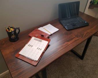 Modern rustic desk.